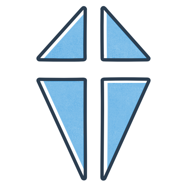 Rhema Scotland brand image of a cross within a shield